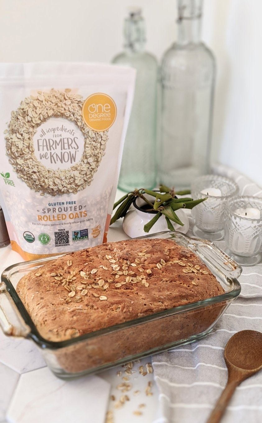 plant based oat bread recipe vegan flax bread dairy free oatmeal bread recipe with flaxseeds