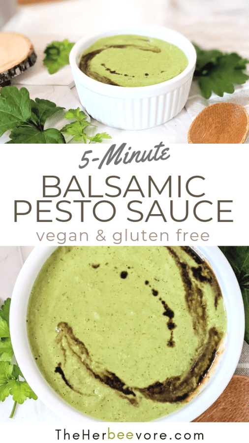 balsamic vinegar pesto recipe healthy vegan balsamic pesto sauce gluten free pesto pistou recipe blender pesto vegan gluten free