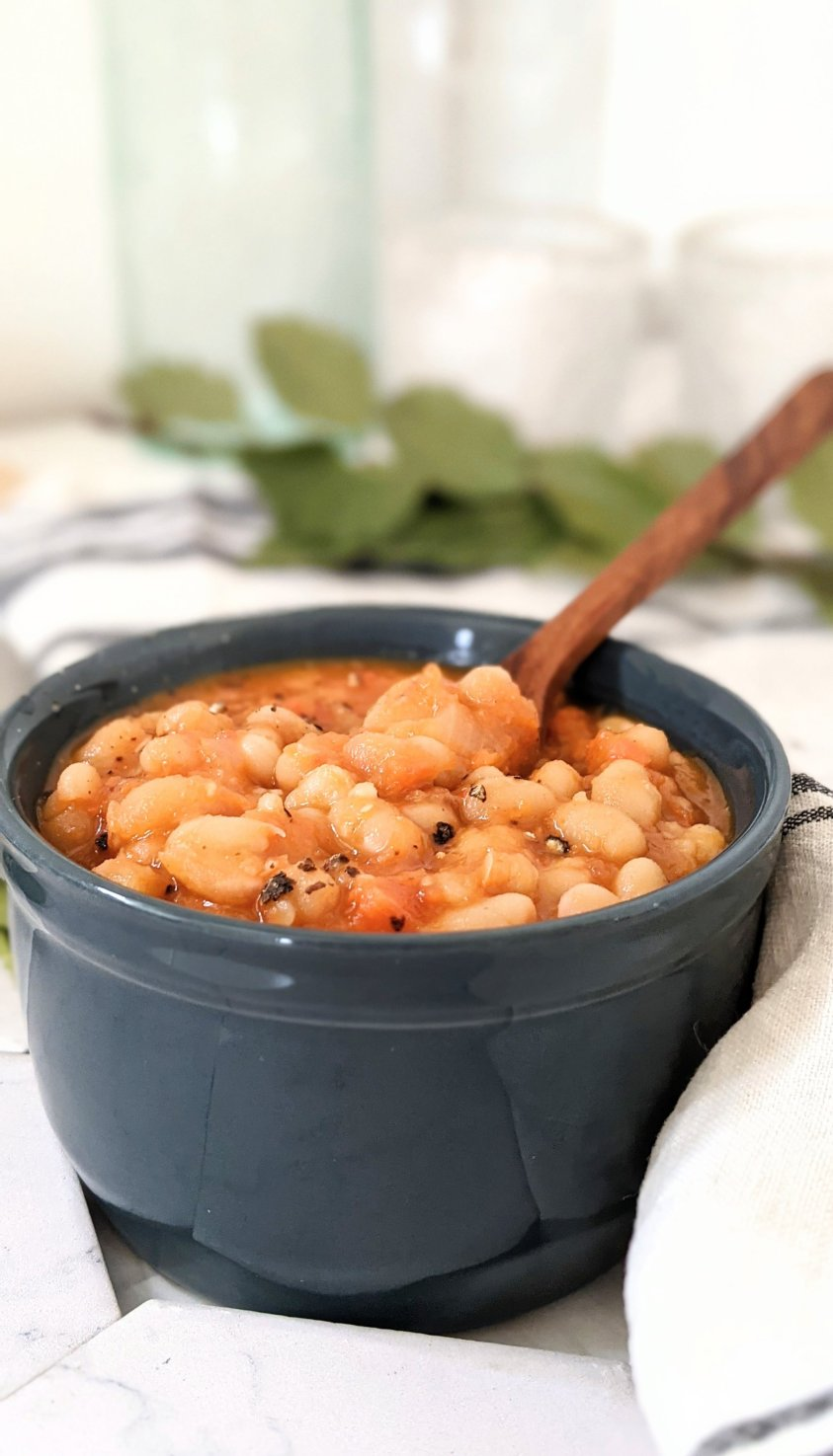 pressure cooker english baked beans recipe vegan instant pot british baked beans cooked from dried beans navy beans vegan recipes