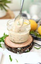 sweet lemon tahini dressing recipe nut free creamy salad dressings dairy free vegan gluten free salad dressings for Buddha bowls vegetarian