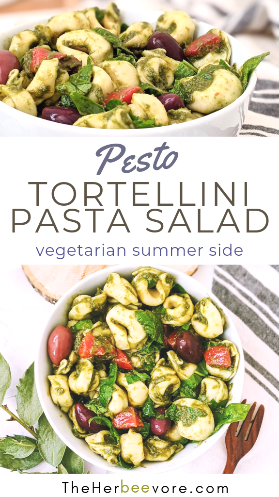 pesto veggie tortellini pasta salad recipe healthy summer side dishes without meat 30 minute sides for entertaining homemade pasta salads for summer