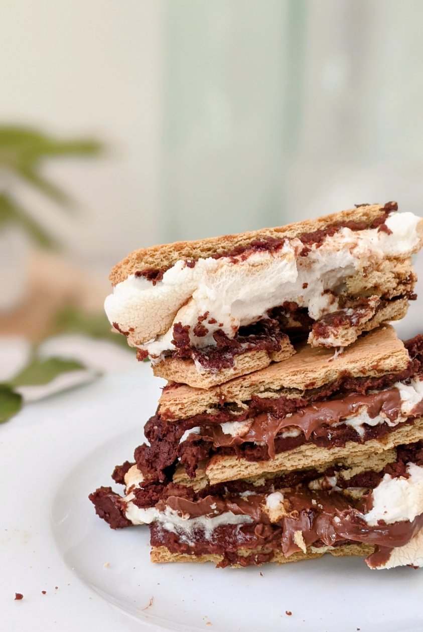 brownie batter s'mores recipe vegan option air fryer s'mores additions ways to make your smores extra add one to smores fun s'mores campfire recipes brownie smores