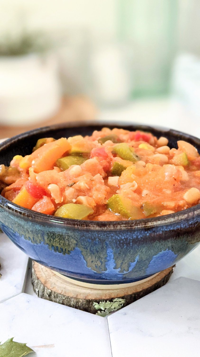 vegan summer squash stew recipe with corn and beans dinner recipes plant based three sisters stew recipe for summer gardens in northeast or midwest recipes for summer produce