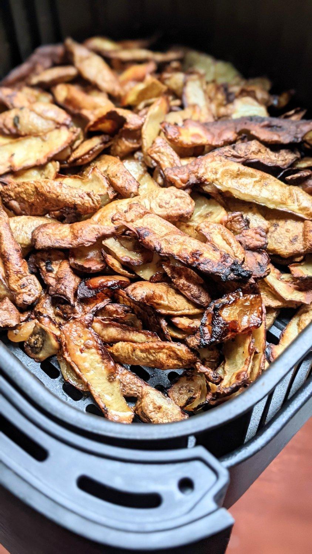 air fryer potato peels recipe save potato shavings recipe potato peelings to eat recipes for potato peels gluten free vegan vegetarian plant based