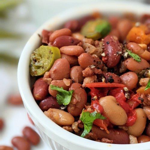 instant pot vegetarian cowboy beans recipe vegan gluten free pressure cooker cowboy beans high protein vegetarian summer bbq side dishes meatless baked beans recipes