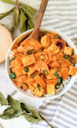vegan butter tofu recipe dairy free gluten free vegetarian indian recipes with tofu for dinner healthy creamy indian stews with basmati rice and garlic naan