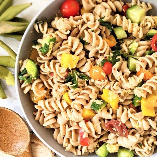 rainbow pasta salad recipe summer bbq side dishes vegetarian gluten free sides for summer bbq healthy pasta salad eat the rainbow vegetarian dishes