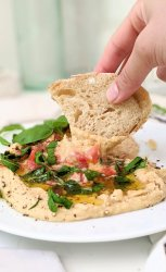 gluten free bruschetta hummus recipe no cook vegan appetizers for summer side dishes without cooking easy canned chickpea side dishes simple vegetarian no cook dips