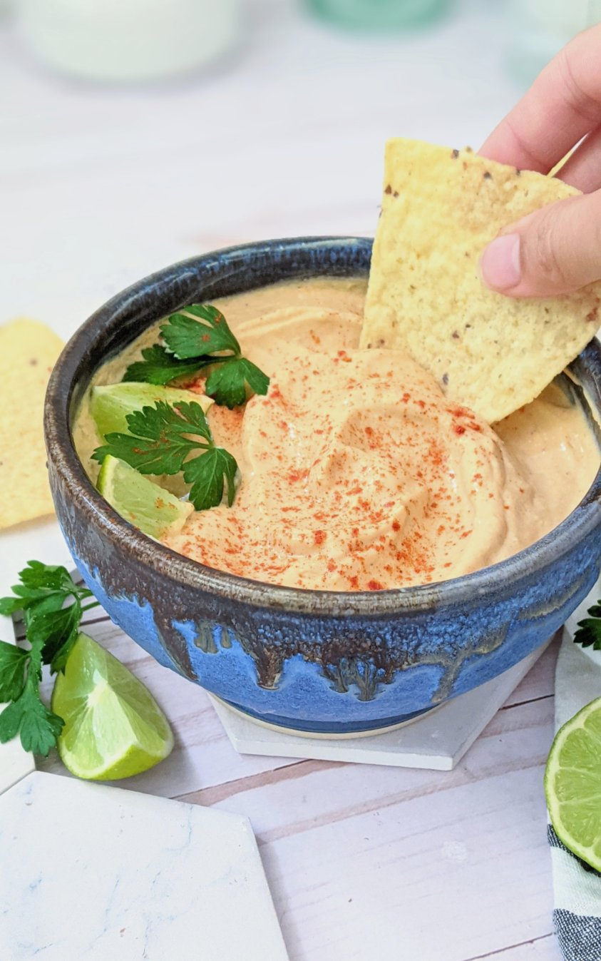cheeseless queso recipe vegan glutuen free dairy free mexican cheese sauce spicy vegan nacho dip recipe with silken tofu dips for parties blender cheese sauce vegan fiesta sauce