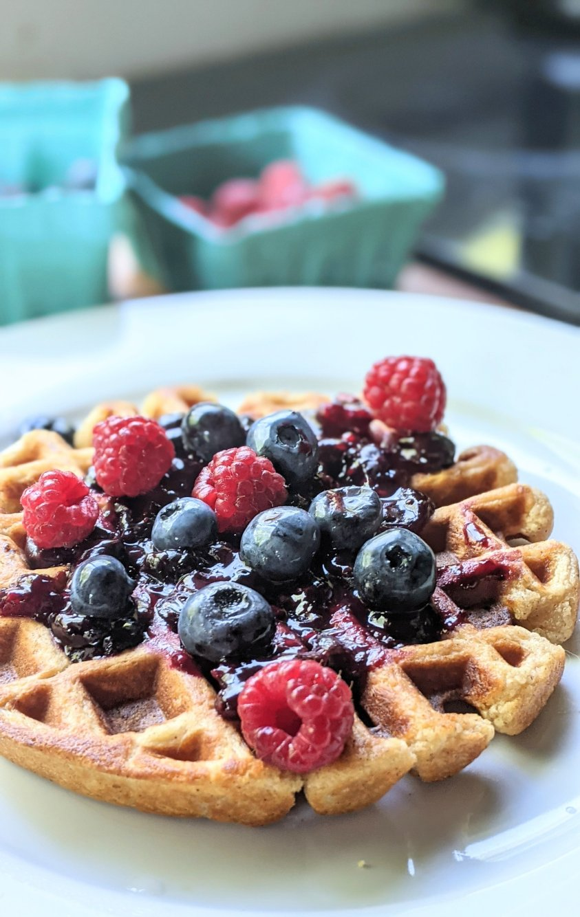frozen berry compote recipe for ice cream waffles pancake compote recipes berry jam sauce for breakfast crepes whole30 paleo vegan no dairy recipes