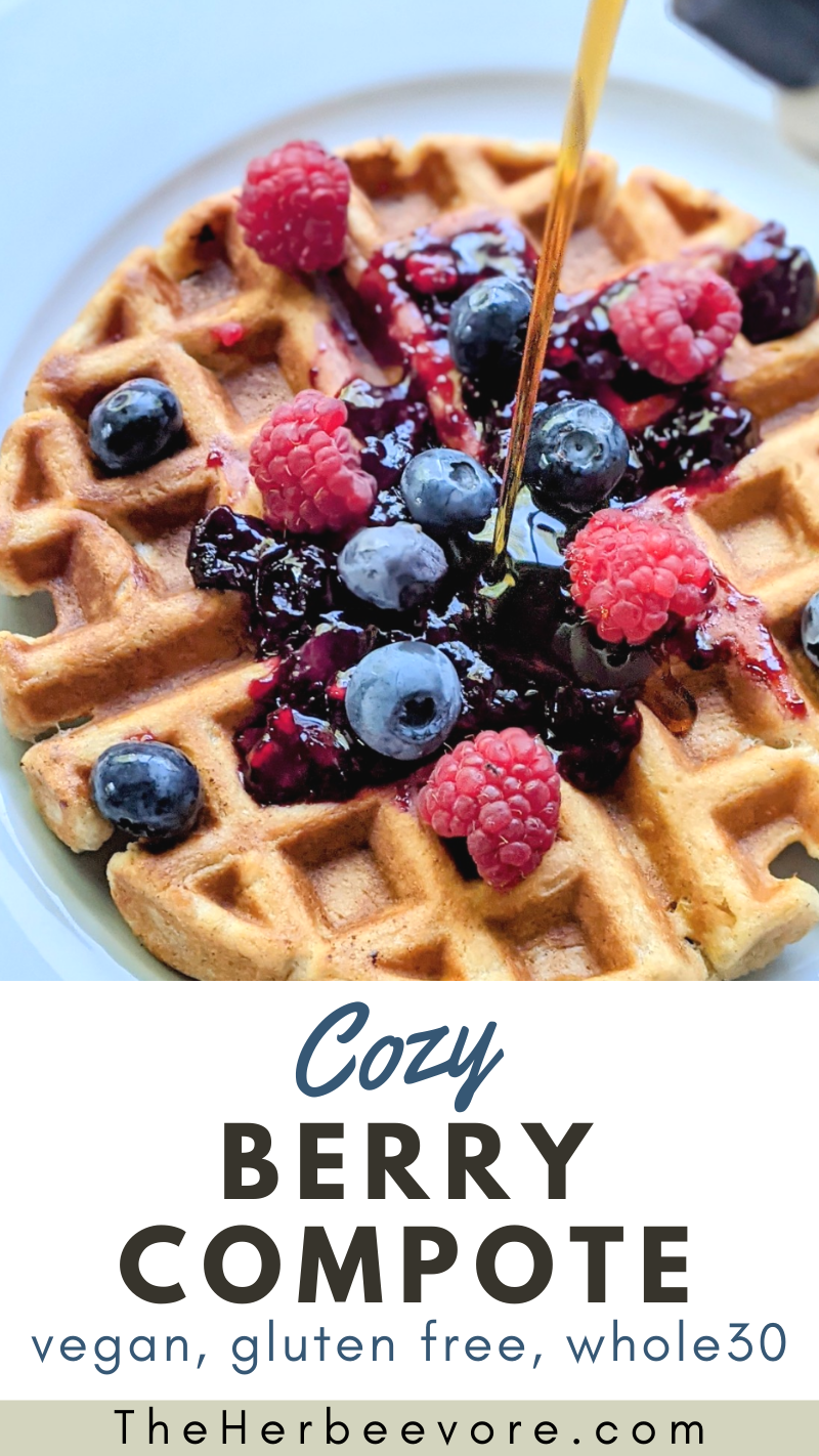 berry compote recipe for pancakes breakfast crepe sauce with berries frozen blueberry and frozen raspberry sauce for pancakes waffles and french toast with berries sauce recipe whole30 gluten free