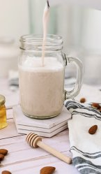 honey almond milk recipe naturally sweetened honey almond milk for cold brew flat white or tea lattes with vegan alternative to honey by using agave syrup