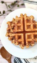 vegan cornbread waffles recipe egg free dairy free waffles with cornbread mix easy plant based cornmeal waffles recipe