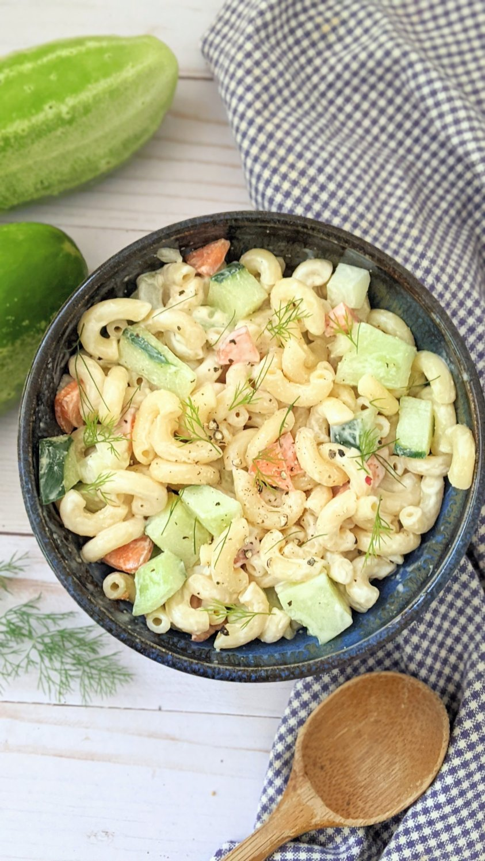 garden cucumber macaroni salad recipe vegetarian cold noodle salads with cucumber and macaroni noodles easy cucumber mac salad with dill and sour cream macaroni salads