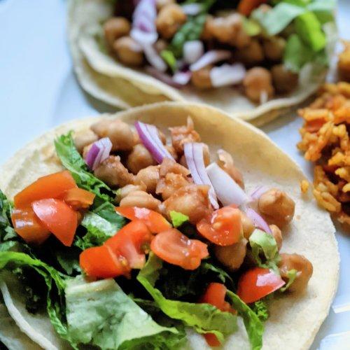 garbanzo bean tacos vegan gluten free