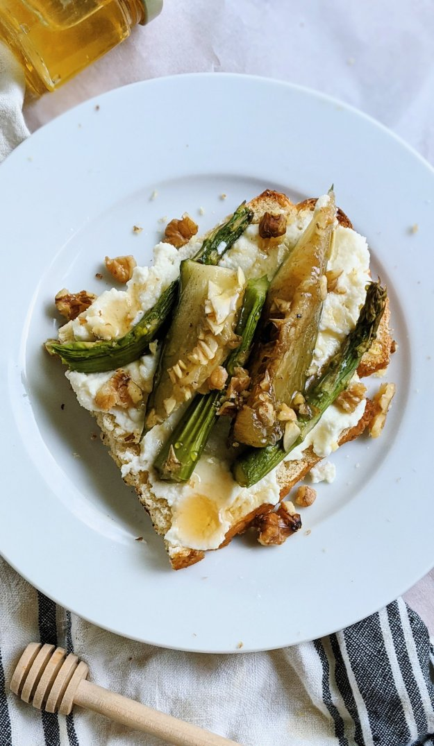vegetable breakfast recipes with ricotta asparagus and zucchini squash on toast recipe brunch vegetables healthy breakfast ideas with grilled vegetables or leftover sauteed vegetables on toast