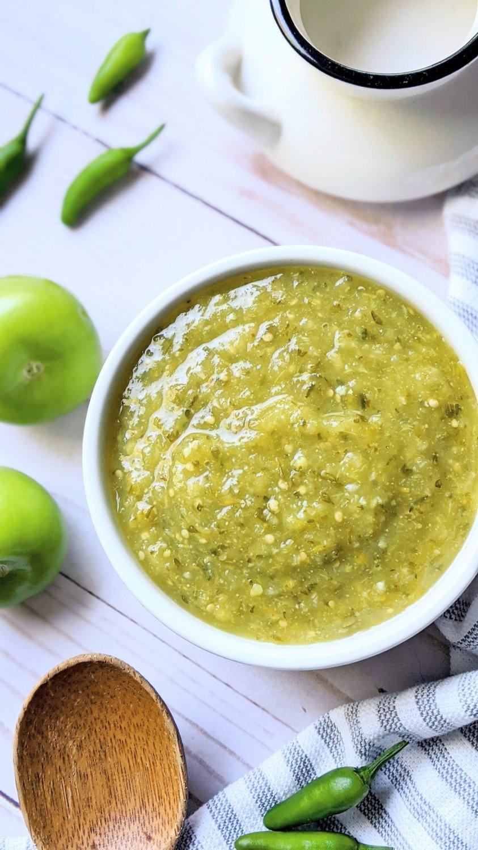 low sodium salsa verde recipe with tomatillos no salt added sauces condiment and dip healthy green salsa no sodium no salt