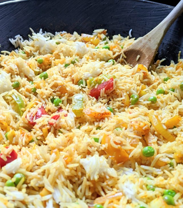 leftover rice recipes with lemon and turmeric rice in a wok fried rice with greek asian middle eastern and indian influences melting pot golden rice recipe gluten free vegan vegetarian