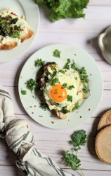 egg ricotta toast recipe healthy fried egg and ricotta cheese toast with spinach and parlsey vegetarian breakfast recipes savory ricotta toast with eggs