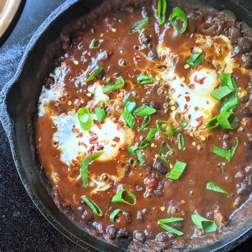 black bean shakshuka vegetarian gluten free spicy black bean breakfast beans recipes healthy ways to eat beans for breakfast spiced beans and eggs brunch recipe