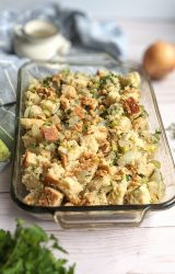 low sodium dressing with homemade bread celery onions garlic parsley and sage stuffing recipe no meat vegetarian healthy stuffing recipe no salt