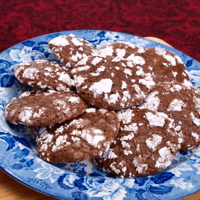 Chocolate Crinkle Cookies for Chocolate Monday!