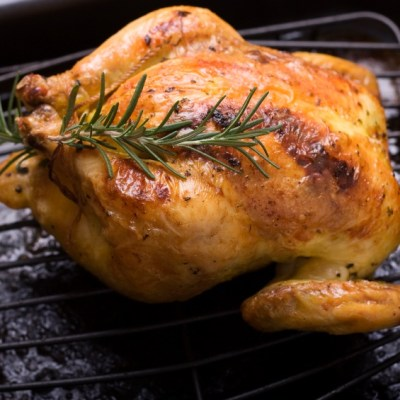 Roasted Cornish Game Hens with Compound Herb Butter