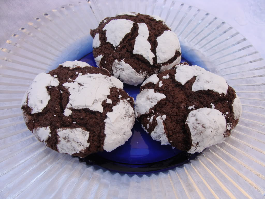 Chocolate Crinkle Cookies for Chocolate Monday! • The Heritage Cook ®