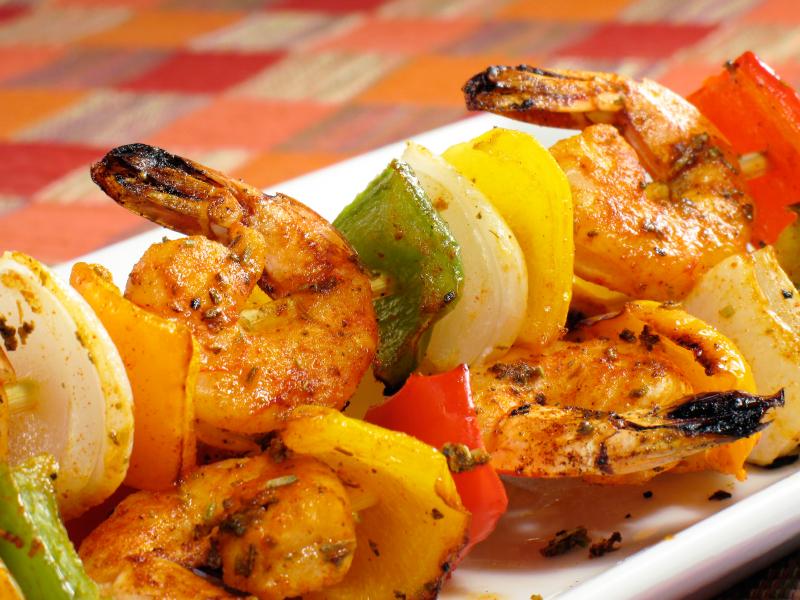 how to make grilled shrimp kabobs