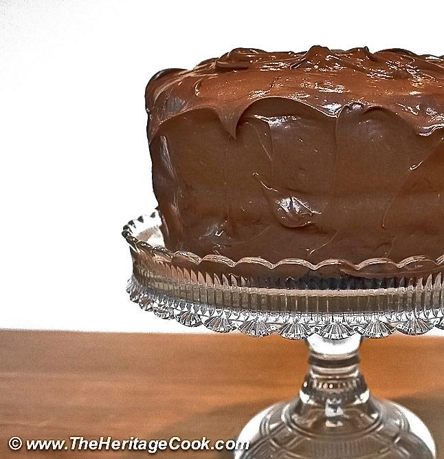 Dark Chocolate Layer Cake with Lavish Chocolate Frosting