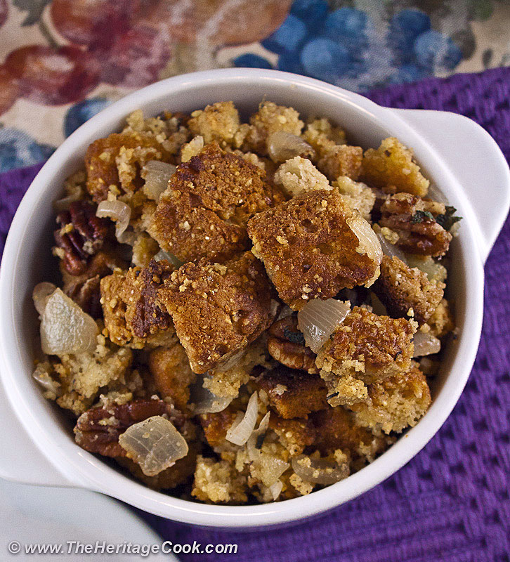 Gluten-Free Thanksgiving Cornbread Dressing. Copyright 2012 Jane Evans Bonacci, The Heritage Cook. All rights reserved