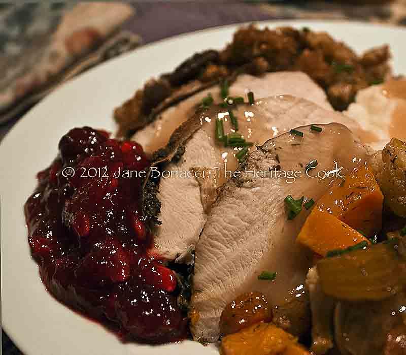 Thanksgiving-Dinner copyright 2012 Jane Evans Bonacci, The Heritage Cook