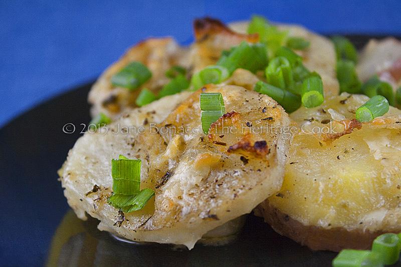 Close up of potato gratin