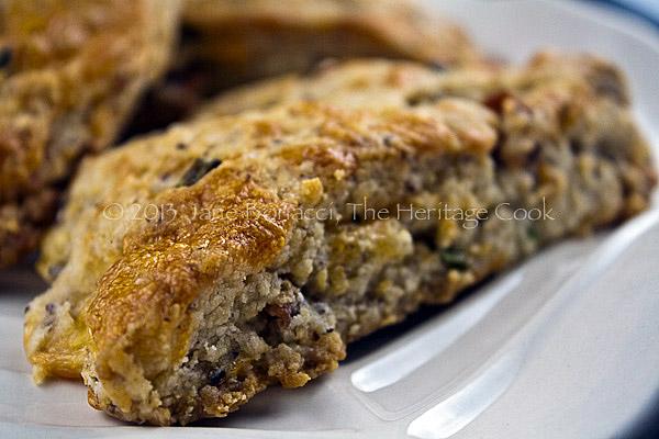 Macro close-up of scones