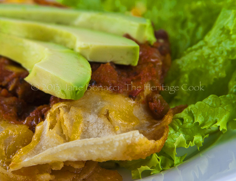 Family Favorite Chicken Enchiladas © 2013 Jane Bonacci, The Heritage Cook