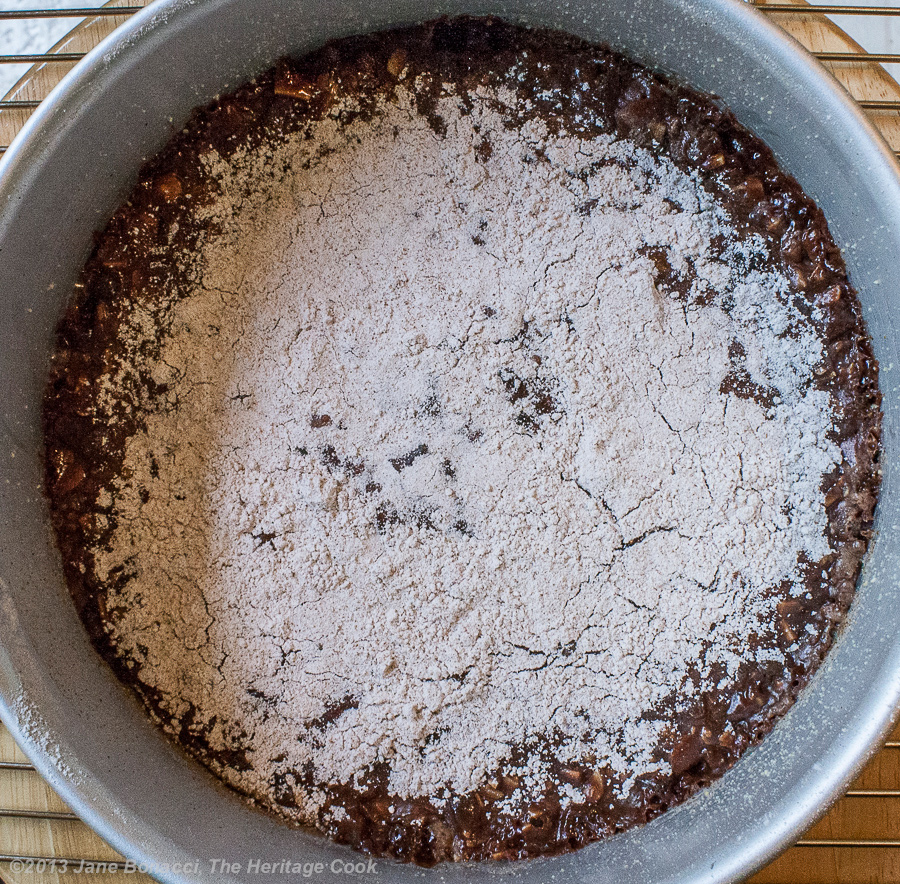 Chocolate Panforte from The Heritage Cook; fresh from the oven