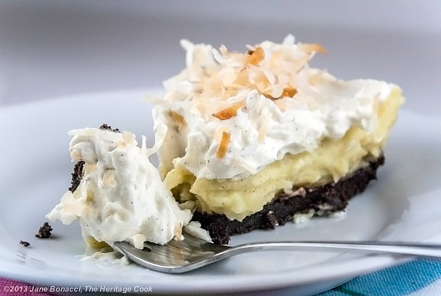 Coconut Cream Pie with Chocolate Cookie Crust