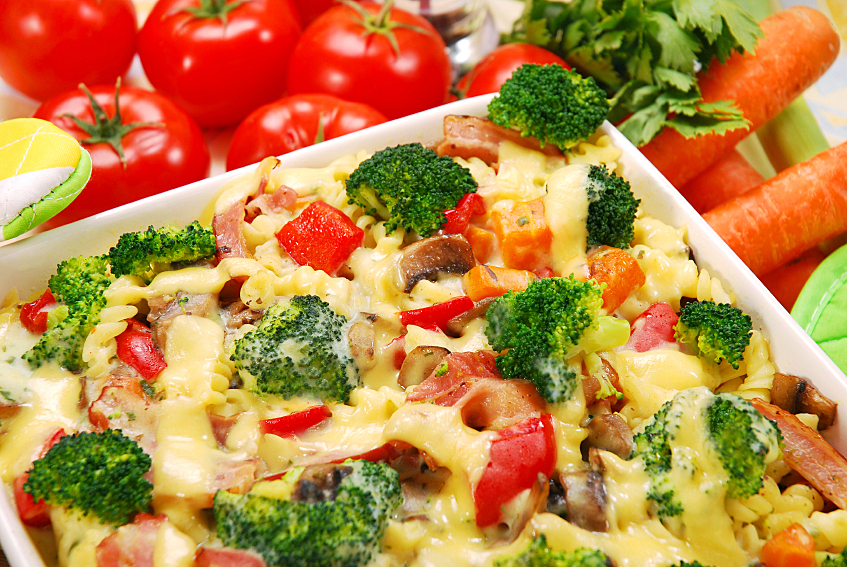 Family Friendly Roasted Vegetable And Pasta Casserole The Heritage