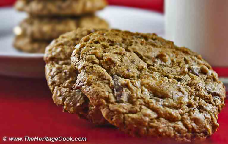 Double Chocolate Chunk Cookies with Coconut (Gluten-Free option); The Heritage Cook 2012