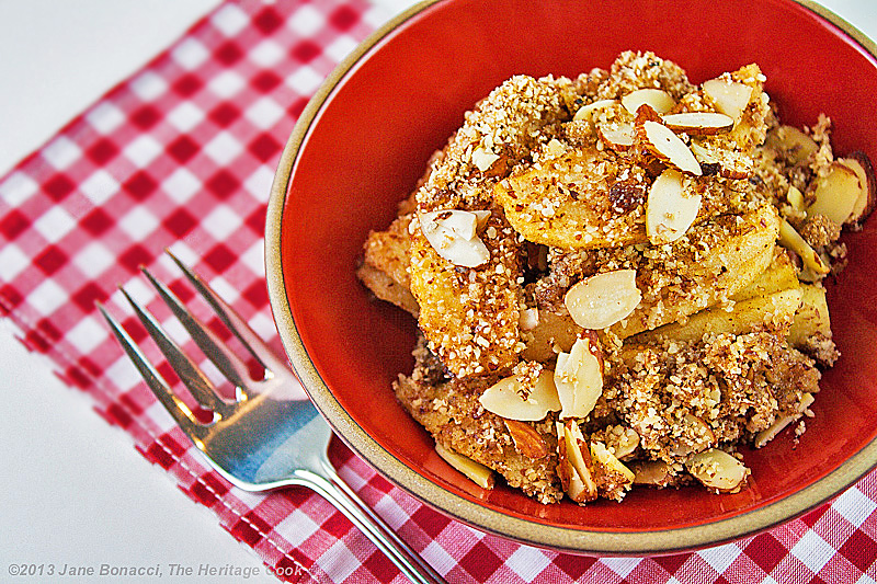 Gluten-Free Apple Crisp; 2013 The Heritage Cook