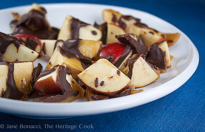 Deconstructed Chocolate-Caramel Apples; 2013 The Heritage Cook.