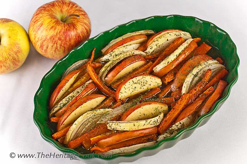 Maple Roasted Carrots, Apples and Onions