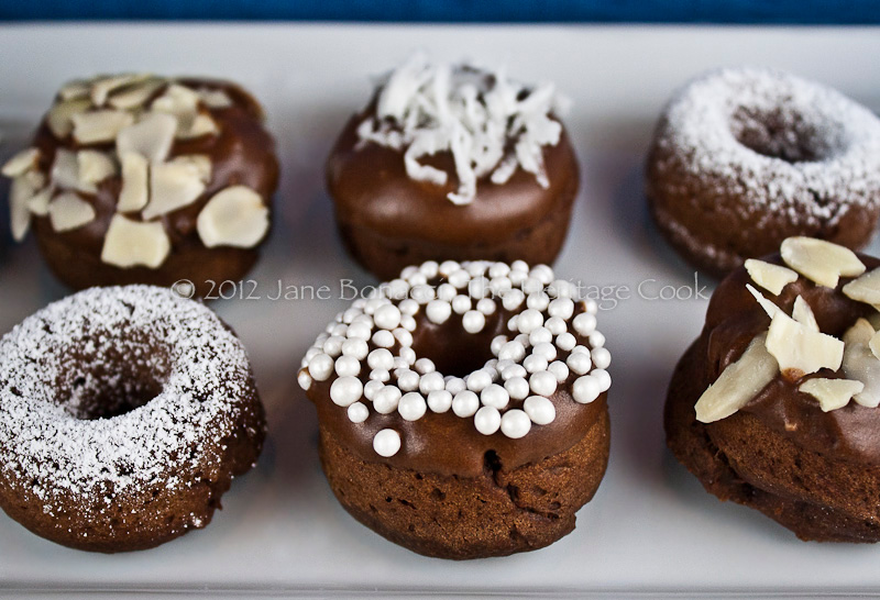 Gluten-Free Chocolate Baked Donuts; 2013 The Heritage Cook