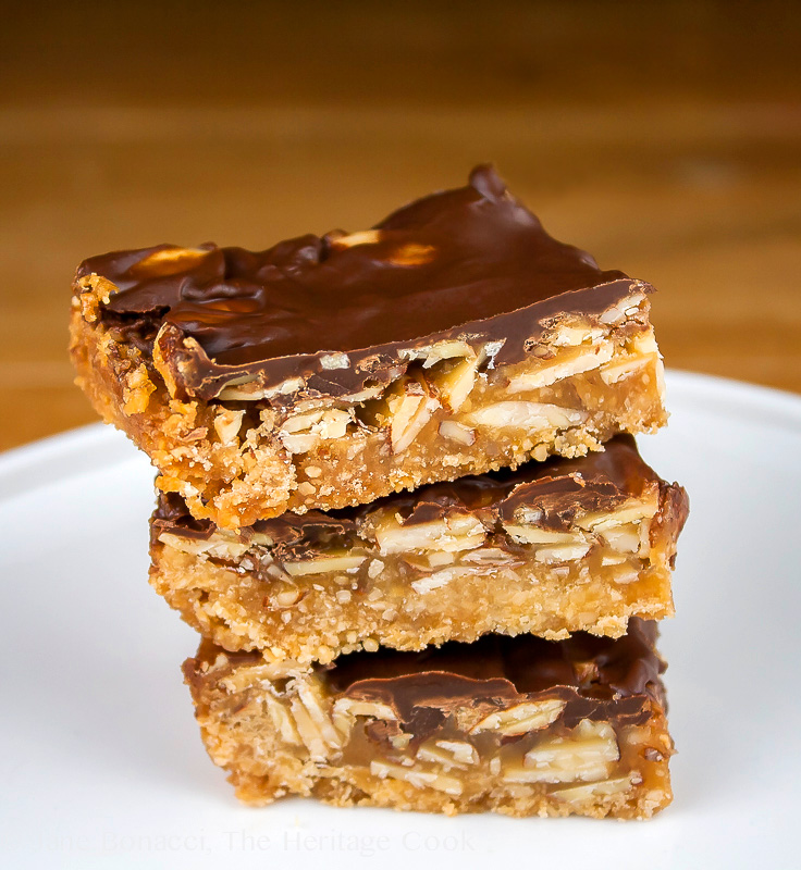 Brown Sugar Turtle Bars; 2014 Jane Bonacci, The Heritage Cook