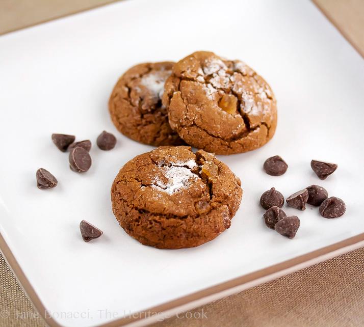 Chocolate Chip Gingersnaps; 2014 Jane Bonacci, The Heritage Cook