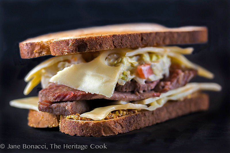 Corned Beef Sandwich & Dill-Ranch Coleslaw; 2014 Jane Bonacci, The Heritage Cook