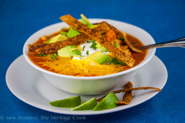 Chile Tortilla Soup 2014 Jane Bonacci, The Heritage Cook