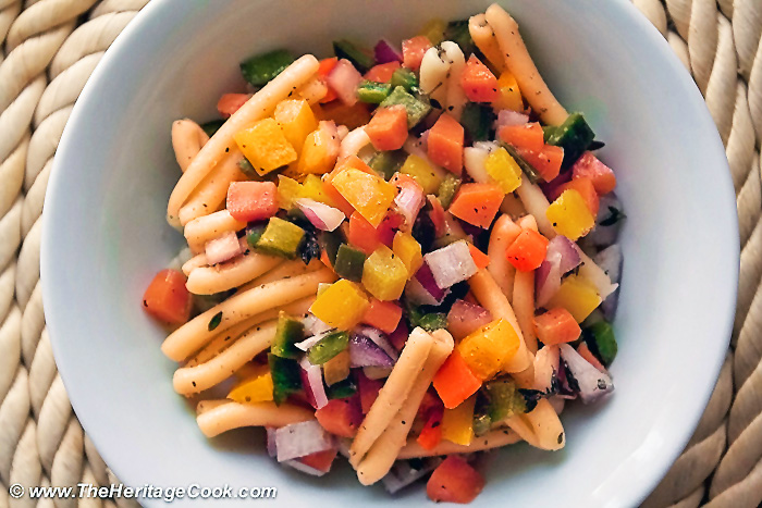 Pasta Salad w Lemon Vinaigrette; 2014 Jane Bonacci, The Heritage Cook