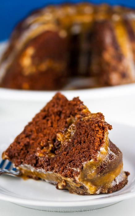 German Chocolate Bundt Cake; 2014 Jane Bonacci, The Heritage Cook