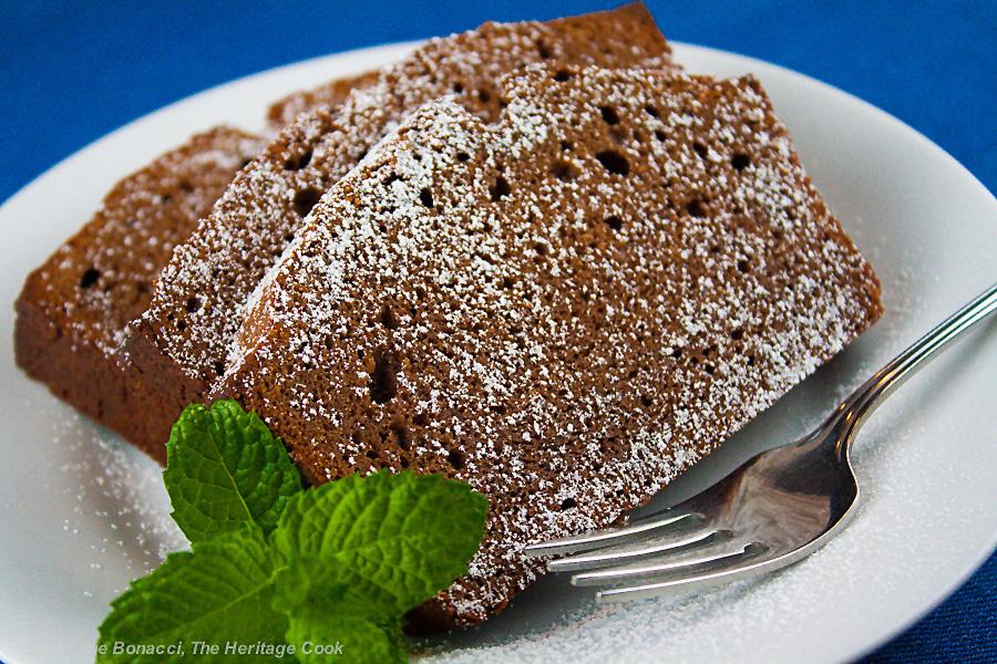Chocolate Pound Cake with Kahlua Glaze (Gluten-Free); 2014 Jane Bonacci, The Heritage Cook